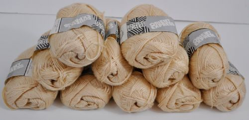 Georges Picaud cream silk mix approx 4 ply 11X 50g balls